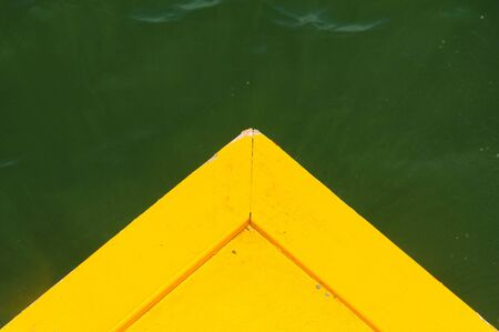green sea: Wood port for boat on green sea water background