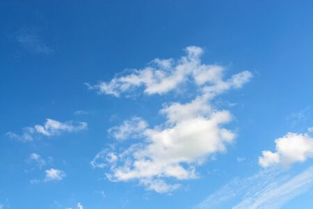 shiny day: Blue sky white cloud in a shiny day Stock Photo