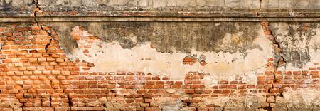 Antiek en oude rode bakstenen muur textuur