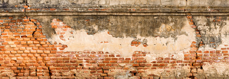 old architecture: Antique and old red brick wall texture