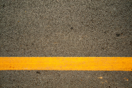 yellow line: The asphalt road and yellow line