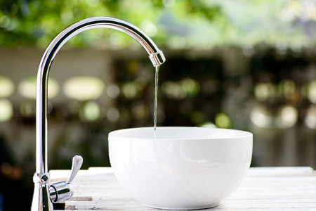 Brand new stainless steel faucet.