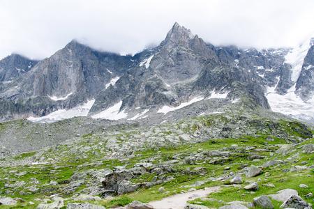 massif: Aiguile du Chardonnet a beautiful view of Mont Blanc Massif , Chamonix France, Europe