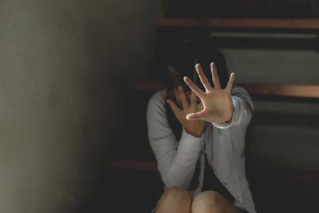 Detener el concepto de abuso sexual, detener la violencia contra la familia y detener la violencia contra las mujeres., Día de la mujer internacional.