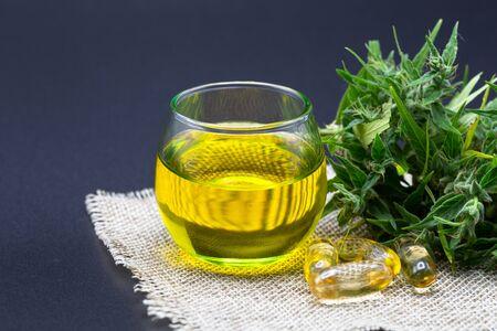 CBD oil hemp products. CBD oil cannabis extract, Medical cannabis concept.