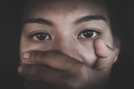 The concept of stopping violence against women andand human trafficking, Stop harassment and rape, International Women's Day