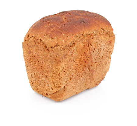 foodstuffs: Loaf of good bread isolated on white background, foodstuffs