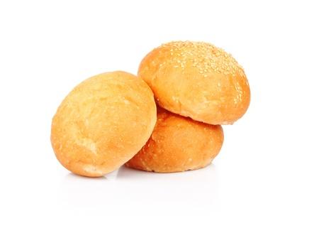 aliments: Boulangerie de bons rouleaux isol� sur fond blanc, des denr�es alimentaires