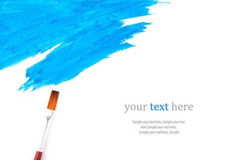 bluer: Bluer paint strokes isolated on white, vector illustration Stock Photo