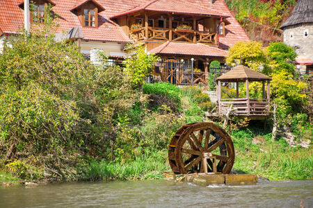 homesteads: Homesteads with restaurant and watermill Editorial