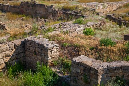 outdoor photo: Ruins of architectural ancient fortress, outdoor photo