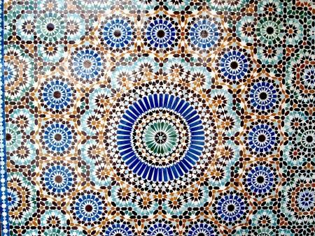 print: Round flower shaped tiles Stock Photo