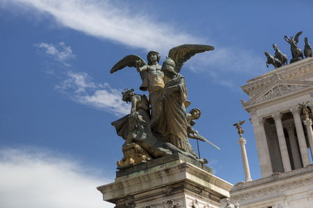 altar: eagle on the altar of the fatherland in rome
