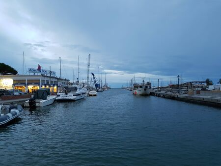 canal of cervia milano marittima outlet on the harbor