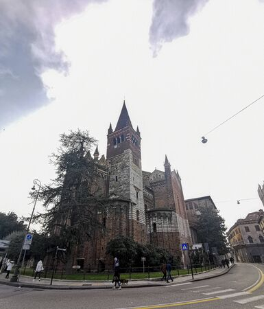 verona panorama city chrch from the street