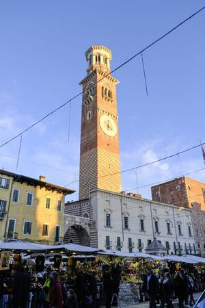 verona medieval church central in sunny day