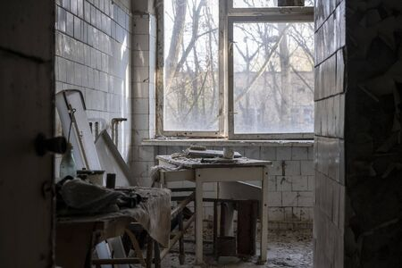 chernobyl abandoned house abandoned kitchen with chair
