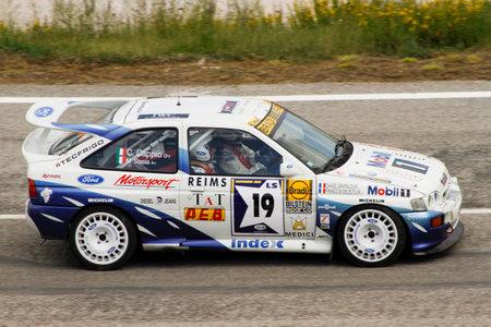 Reggio Emilia, Italy - 2016 26 06: Rally of the Reggio Apennines free event Ford Escort Consworth. High quality photoR