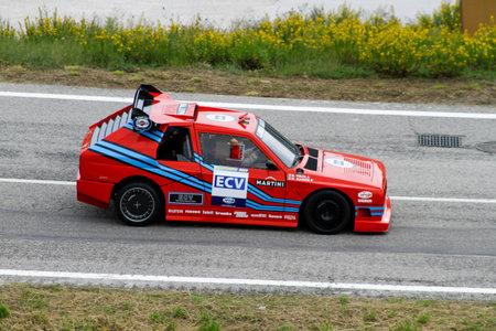 Reggio Emilia, Italy - 2016 26 06: Rally of the Reggio Apennines free event Lancia Delta S4 ECV. High quality photo