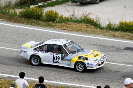 Reggio Emilia, Italy - 2016 26 06: Rally of the Reggio Apennines free event Opel Manta 400. High quality photo
