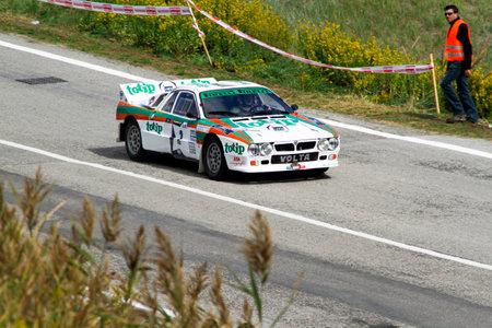 Reggio Emilia, Italy - 2016 26 06: Rally of the Reggio Apennines free event Lancia RAlly 037. High quality photo
