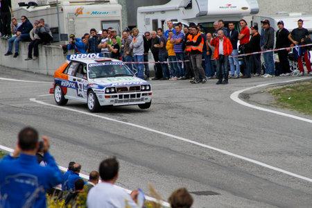 Reggio Emilia, Italy - 2016 26 06: Rally of the Reggio Apennines free event Lancia Delta Evo Repsol. High quality photoR