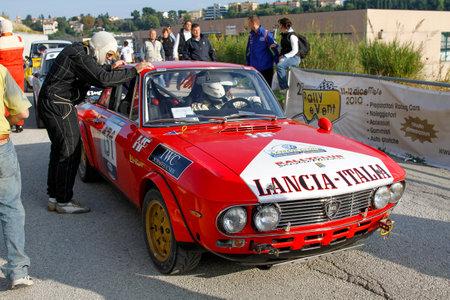 Reggio Emilia, Italy - 2016 26 06: Rally of the Reggio Apennines free event Lancia Fulvia HF. High quality photoR