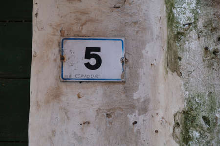 old house number on Italian street 5. High quality photo