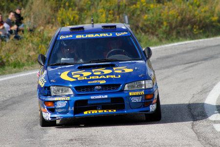 Reggio Emilia, Italy - 2016 26 06: Rally of the Reggio Apennines free event Subaru Imprenza WRX. High quality photoR