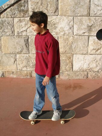 boy practicing skate Stock Photo - 404179