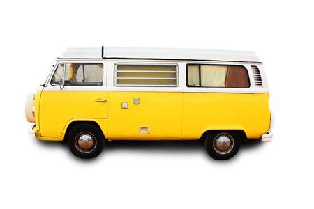 A retro yellow van