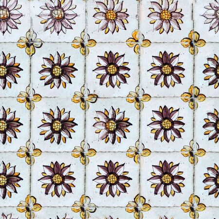 image size: Seamless tile pattern of ancient ceramic tiles. You can create an arbitrary image size by simply concatenating several of these images together. Each edge of this image matches with the opposite edge.