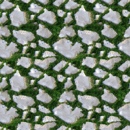 image size: Seamless tile pattern of grass and rocks. This is seamless pattern, meaning you can create an arbitrary image size by simply concatenating several of these images together. Each edge of this image matches with the opposite edge.