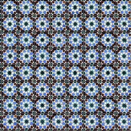 image size: Seamless tile pattern of ancient ceramic tiles. This is seamless pattern, meaning you can create an arbitrary image size by simply concatenating several of these images together. Each edge of this image matches with the opposite edge.