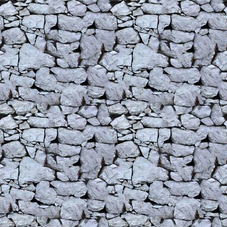 image size: Seamless tile pattern of a stone wall. This is seamless pattern, meaning you can create an arbitrary image size by simply concatenating several of these images together. Each edge of this image matches with the opposite edge. Stock Photo