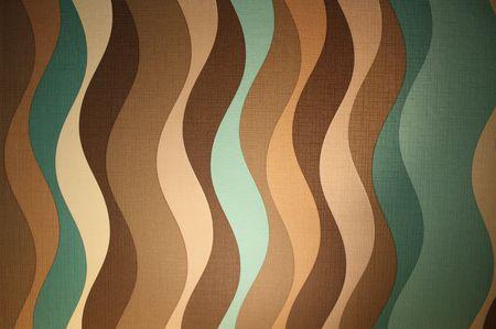 70s: Sixties style wallpaper pattern