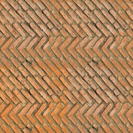 arbitralny: Seamless tile pattern of clay bricks. This is seamless pattern, meaning you can create an arbitrary image size by simply concatenating several of these images together. Each edge of this image matches with the oposite edge. Zdjęcie Seryjne