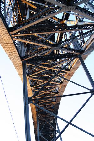 oporto: Detail of Oporto bridge