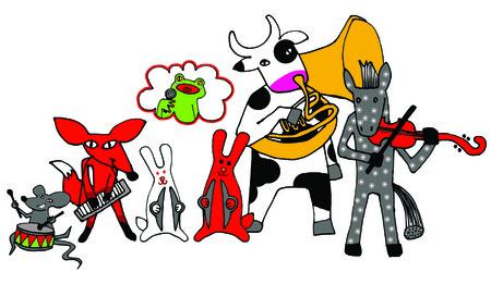 cymbals: The Animal Band Illustration