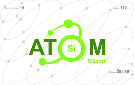 """modern logo design for the word """"Atom"""". Ions belong to the periodic system of atoms. There are ion pathways, ionic bonds"""