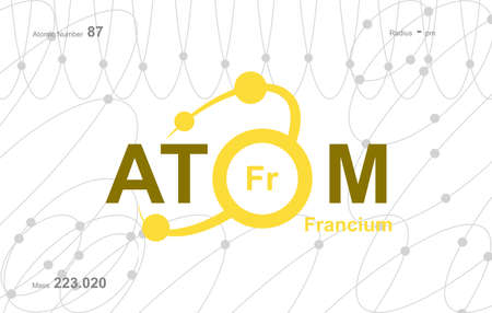 """modern logo design for the word """"Atom"""".Atoms belong to the periodic system of atoms. There are atom pathways."""