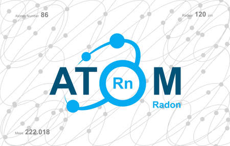 """modern logo design for the word """"Atom"""".Atoms belong to the periodic system of atoms. There are atom pathways. Logó"""