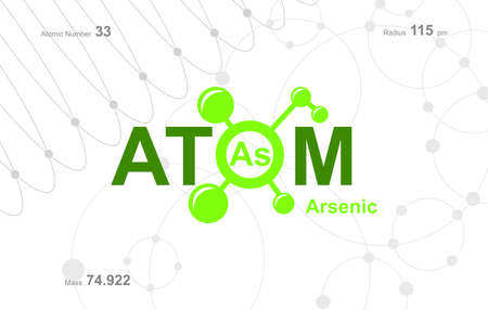 """modern logo design for the word """"Atom"""". Atoms belong to the periodic system of atoms. Logó"""