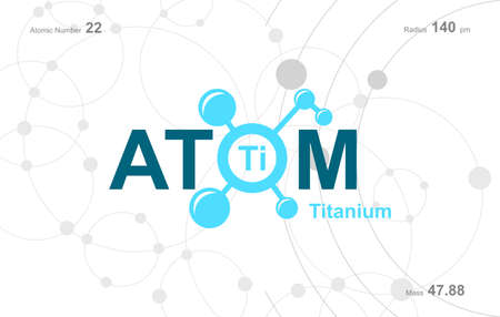 """modern logo design for the word """"Atom"""". Atoms belong to the periodic system of atoms."""