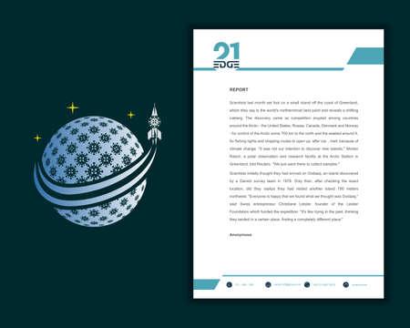 Letterhead design template. Elegant and clean modern business letterhead template design.