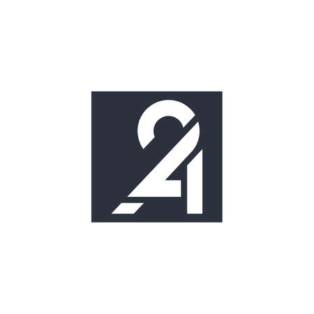 vector is monogram 2 , P and A. 2PA or 2AP or A2P or P2A Illustration
