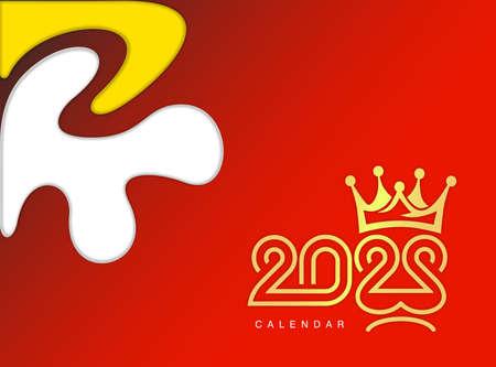 new year 2022 vector in batik motif. Gold colour Illustration