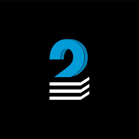 The logo is the NUMBER 2. The bottom is made of 3 horizontal lines.