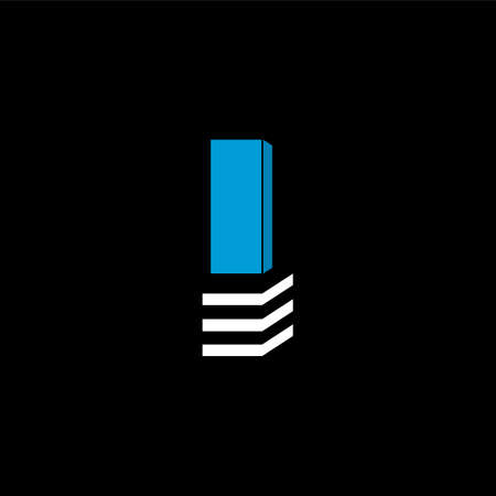 The logo is the LETTER I. The bottom is made of 3 horizontal lines.