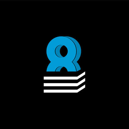 The logo is the NUMBER 8. The bottom is made of 3 horizontal lines.